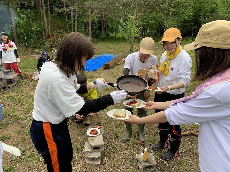 6/22 名寄市立大学の学生がみくわが丘でデイキャンプをしました!
